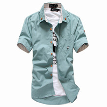 Рубашки/мужчины соответствия бутик чистого коротким случайные хлопка рубашки качества лето высокого