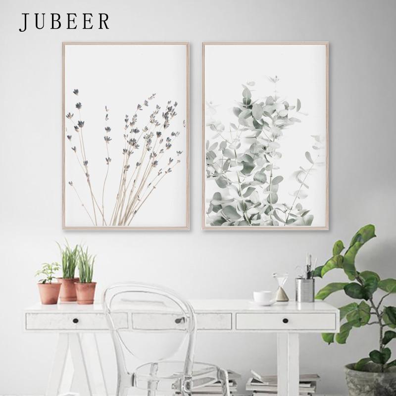 Lavender Eucalyptus Posters Botanical Canvas Painting Farmhouse Wall Decor Art Pictures Bedroom Decoration Scandinavian Decor