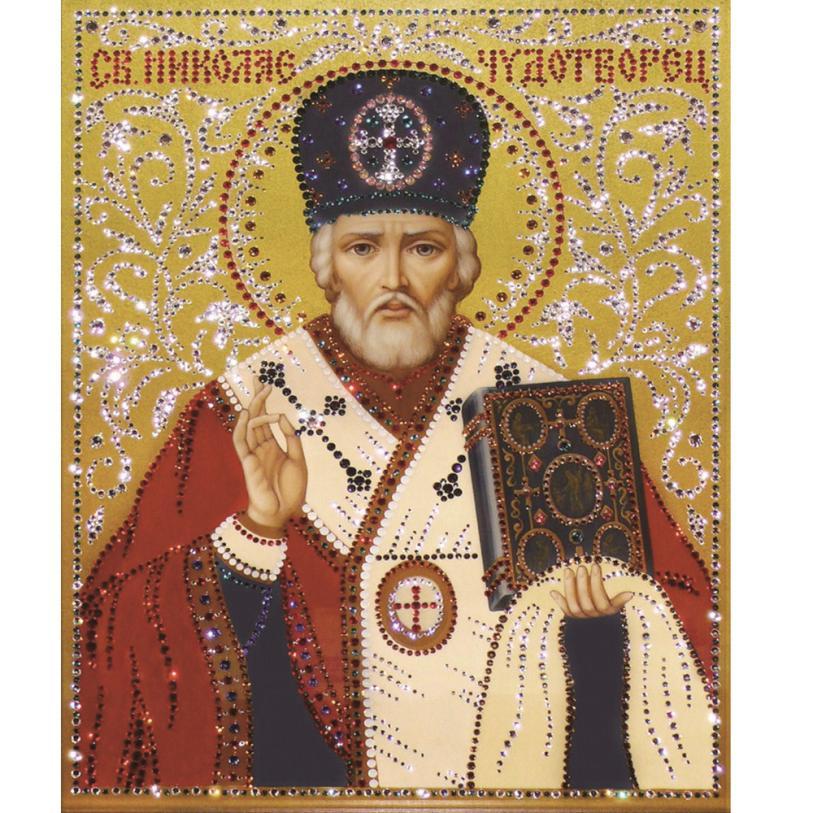 5d Diy Diamond Painting Cross Stitch Religion Icon of Leader Diamond Mosaic true religio ...