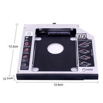 "CHIPAL Aluminum 2nd HDD Caddy 12.7mm SATA 3.0 for 2.5"" SSD Case HDD Enclosure for Lenovo ThinkPad T420 T430 T520 T530 DVD-ROM"