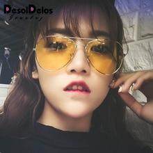 2019 Fashion Brand Women Sunglasses Top Sales Anti-Uv Lady Sun-Shading Eyeglasses Classic Retro Cute Pilot Sun Glasses