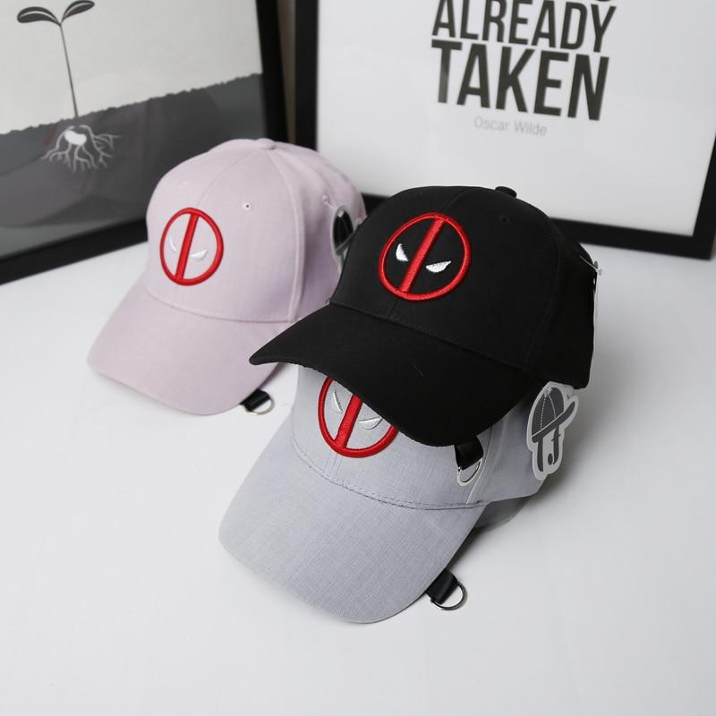 Unisex Deadpool Embroidery Baseball Caps Funny Marvel Hat Adjustable Snapback Casquette Hockey Caps