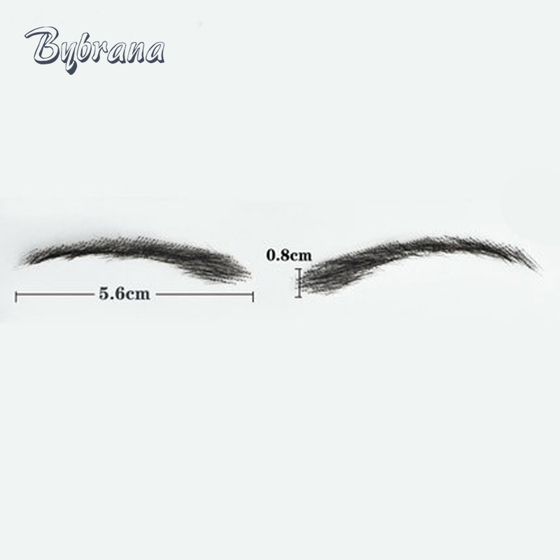 Bybrana Human hair Eyebrows /Lace Eyebrow Real Easy To Wear Wig Brow Human Hair Eye brow Wig Free shipping ...