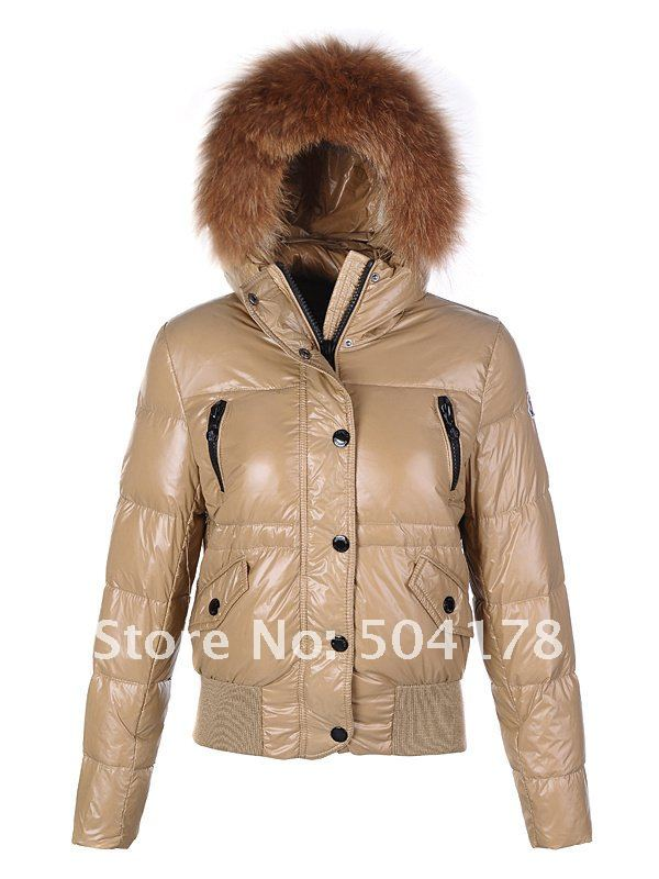 Free shipping Khaki Outerwear Fashion Jackets Women Down Jackets ...