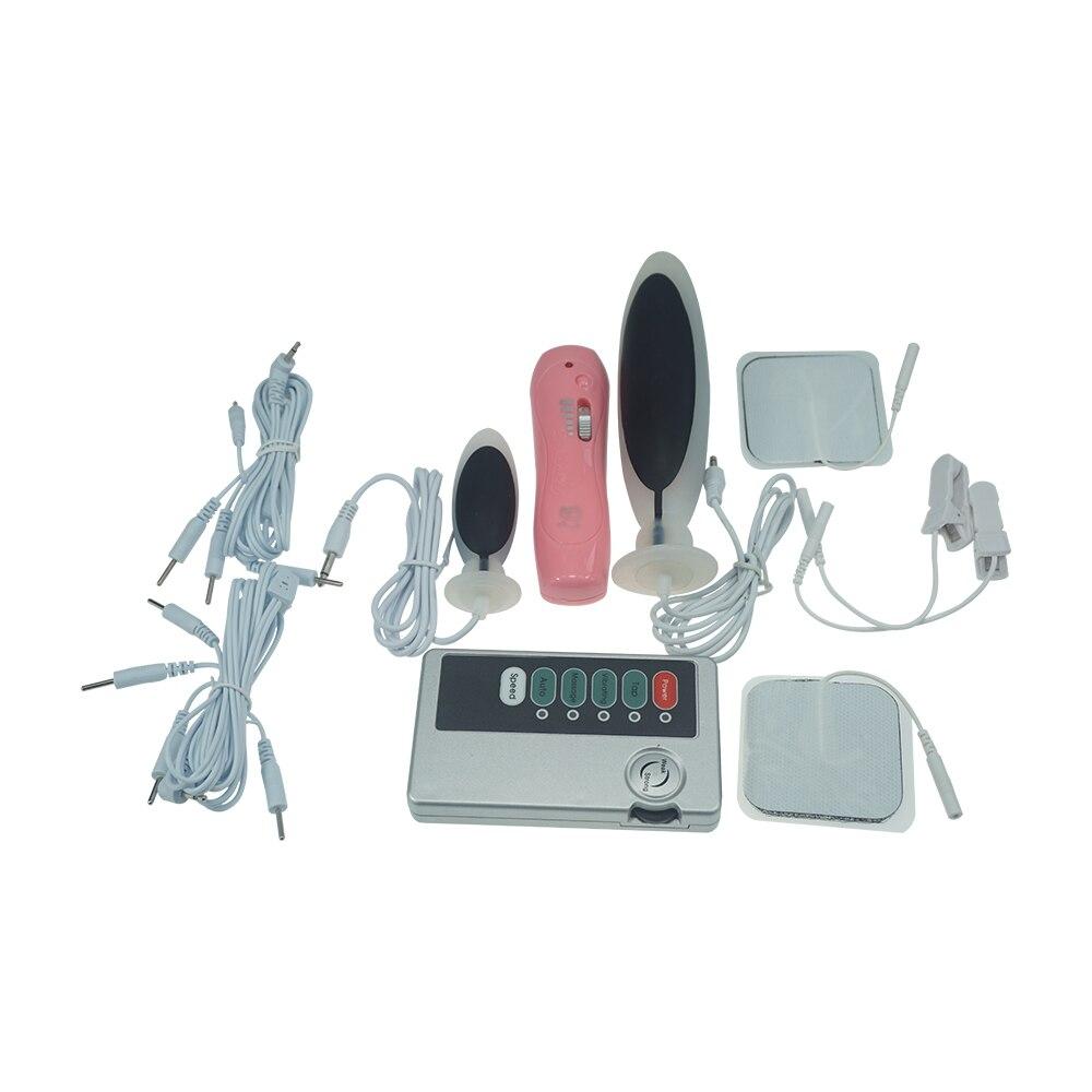 Multi Electro Vibrator Anal Plug Electric Shock Ejaculation Stick Nipple Breast Massager Vagina Tight Medical Themed Sex Toys