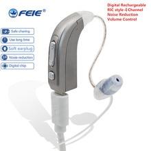 2019 высокий мощный Рик мини аккумуляторная слуховой аппарат цифровой с интеллектуальным adaptive noise reduction) акустического audiophone MY-33