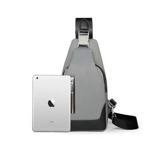 Image 5 - Brand Chest Pack Men Casual Shoulder Crossbody Bag USB Charging Chest Bag Waterproof Oxford Travel Sling Bag Messenger Bag Male