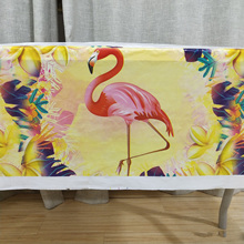 1pcs/set Flamingo Items Cartoon Kids Party TableCloth Degradable Disposable Plastic Outdoor Birthday Tablecloth Supplies