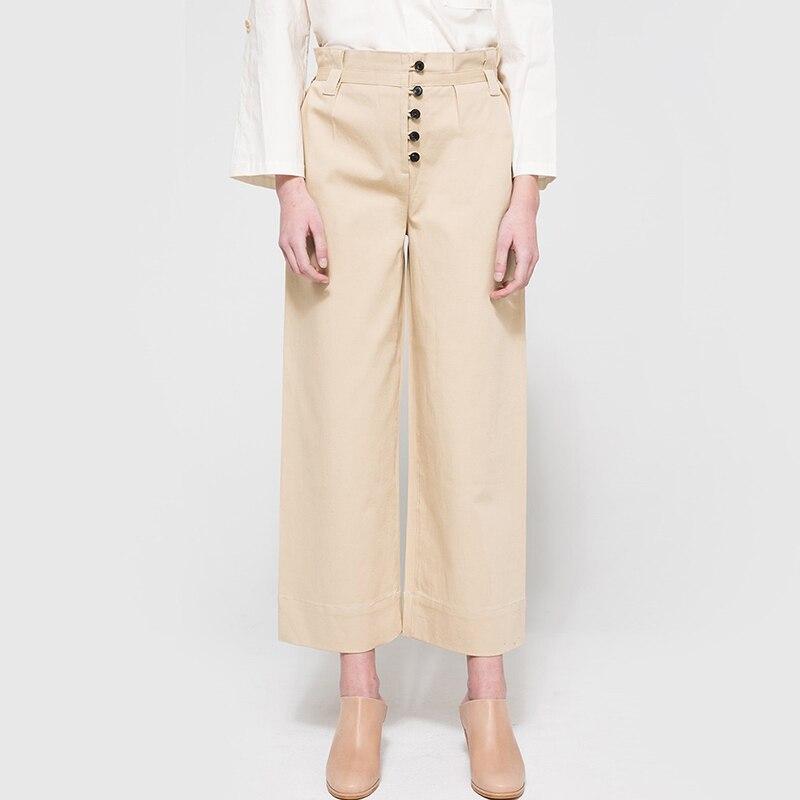 מכנסיים נשים כותנה אחת חזה רופף סתיו חם למכירת מחוץ ללבוש מזדמנים מכנסיים רגל רחבים מכנסיים באורך קרסול באיכות גבוהה