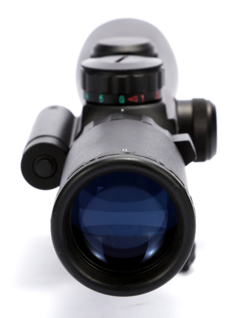 Free shipping 3.5-10x40 Hunting Shooting Rifle Scope M8 Sniper Optical Scopes With Red Laser Target Sight Light For Airsoft Guns