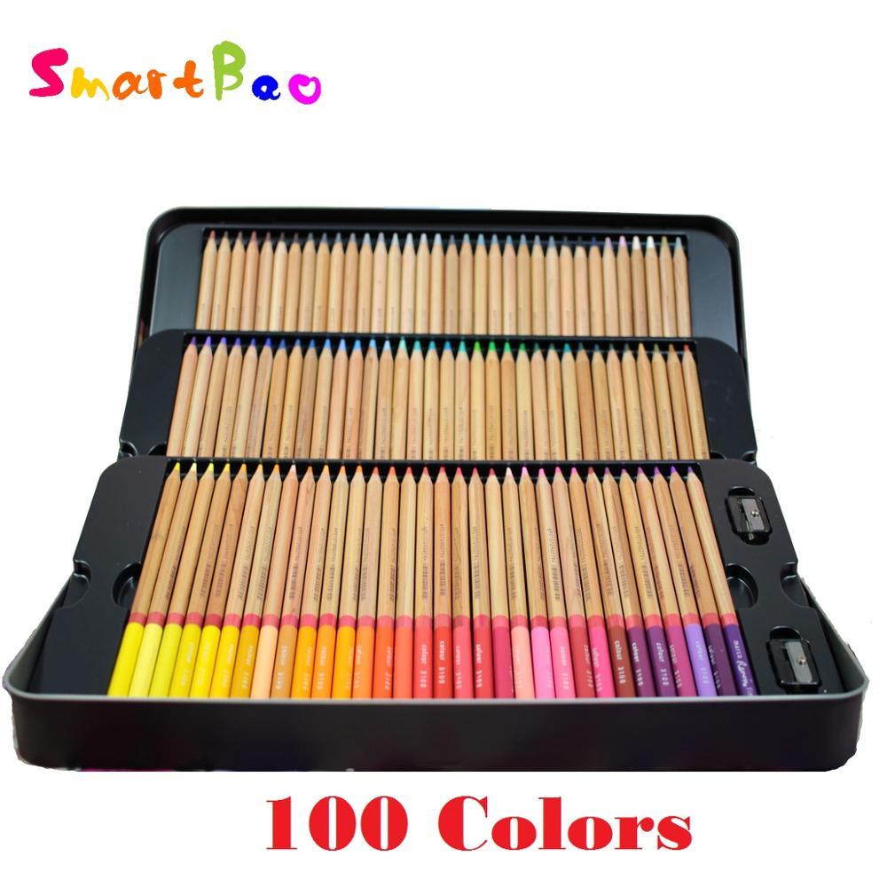Super great 100 Colored Pencils Sets ; Lapis de cor 100 Cores; Crayon de couleur; Dicke buntstifte; Renkli kalemler