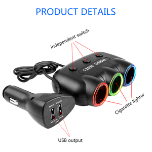 Image 5 - 12V 24V 5V/2.1A 120W Multi Socket Auto Car Cigarette Lighter Splitter USB Power Adapter Charger with Switch Charger for iPhone