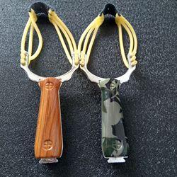 Profissional estilingue sling shot liga de alumínio estilingue catapulta camuflagem arco un-hurtable jogo ao ar livre jogando ferramentas