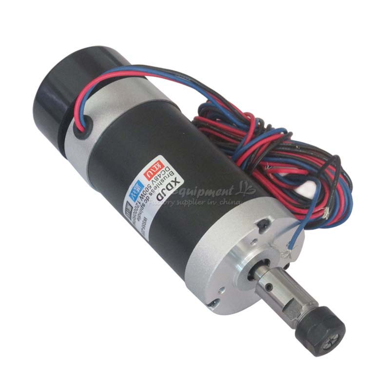 Powerful 500W Brushless Spindle Motor High Speed ER11 DC 48V PCB CNC Engraving Machine Spindle C00005 dc110v 500w er11 high speed brush with air cooling spindle motor with power fixed diy engraving machine spindle
