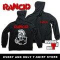 Banda de Punk rock Cráneo Rancid 40 oz Cremallera sudadera Polar con capucha 2 Estilo