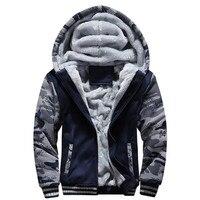 The North Of Winter Male Moletom Warm Thick Velvet Solid Sweatshirt Men Tracksuit Soft Shell Men