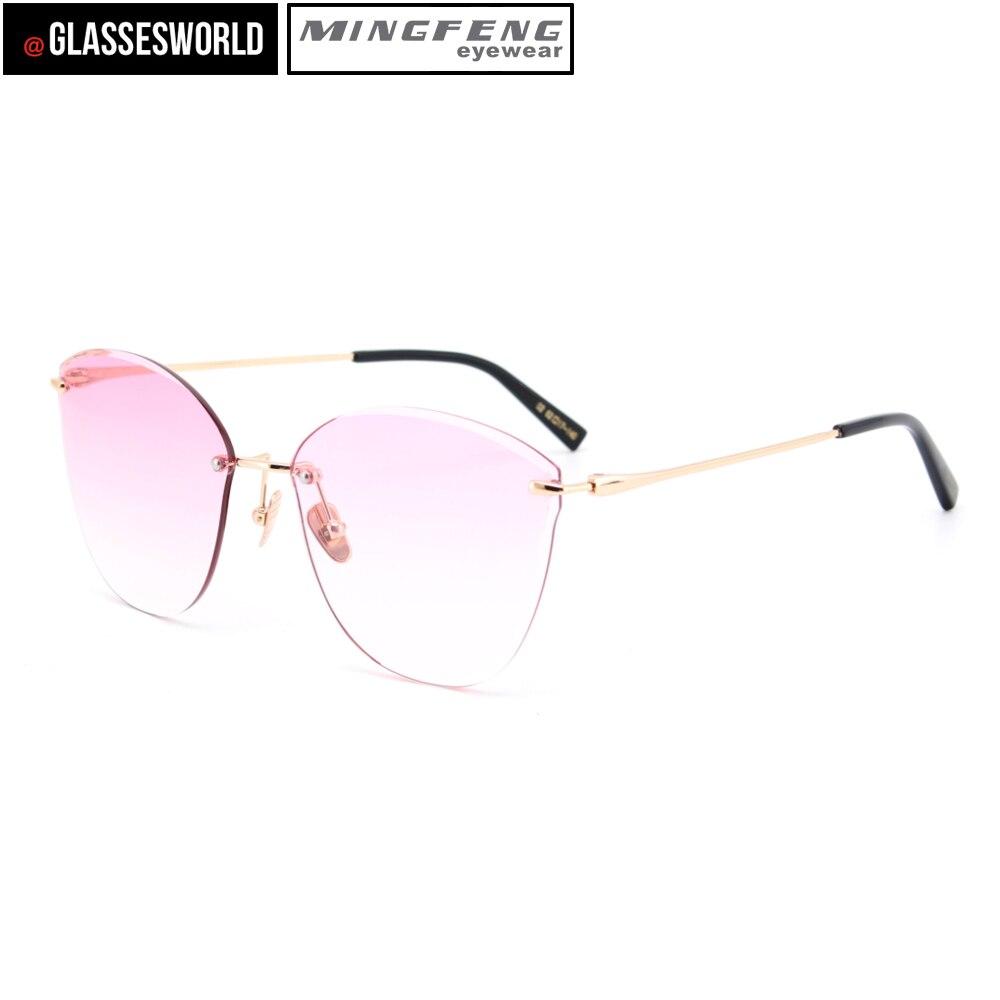 Lunettes de soleil sans cadre de haute qualité UV400 lunettes de soleil mode M2846