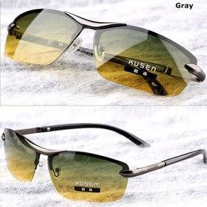 Image 3 - Gündüz Gece Görüş Polarize Gözlük Çok Fonksiyonlu erkek Polarize Güneş Gözlüğü Parlama Azaltmak Sürüş Güneş Cam Gözlük Gözlük de sol