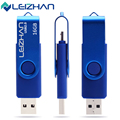 LEIZHAN USB Flash Drive OTG Смартфон USB Flash Drive Флешки 4 ГБ 8 ГБ 16 ГБ 32 ГБ USB 2.0 Memory Stick Micro Smart Mobile Disk
