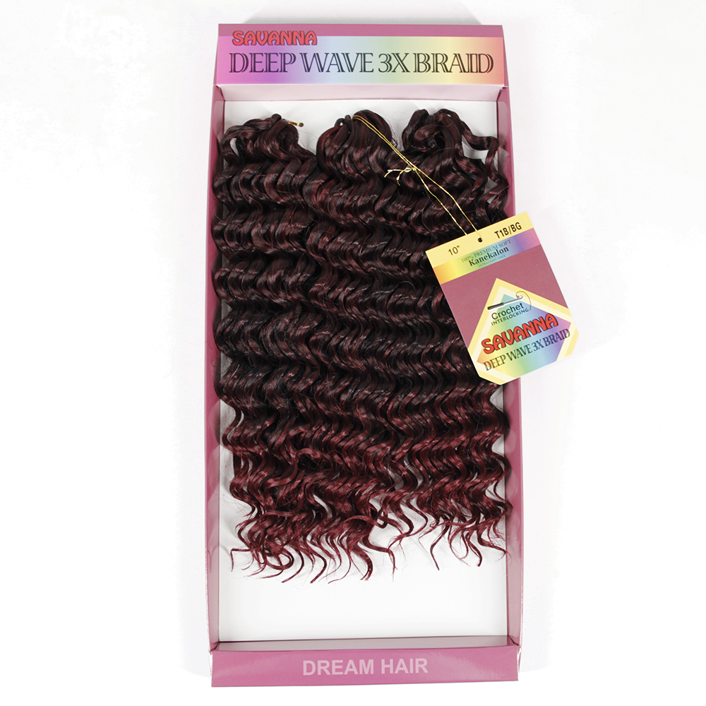 3Pcs/Pack 2017 Christmas Crochet Braids Deep Wave Bundles Weave Synthetic Hair Extensions Natural Wavy Hair Styles YXCHERISHAIR