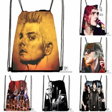 Custom Gerard Way My Chemical Romance Drawstring Backpack Bag Cute Daypack Kids Satchel (Black Back) 31x40cm#180531-04-24