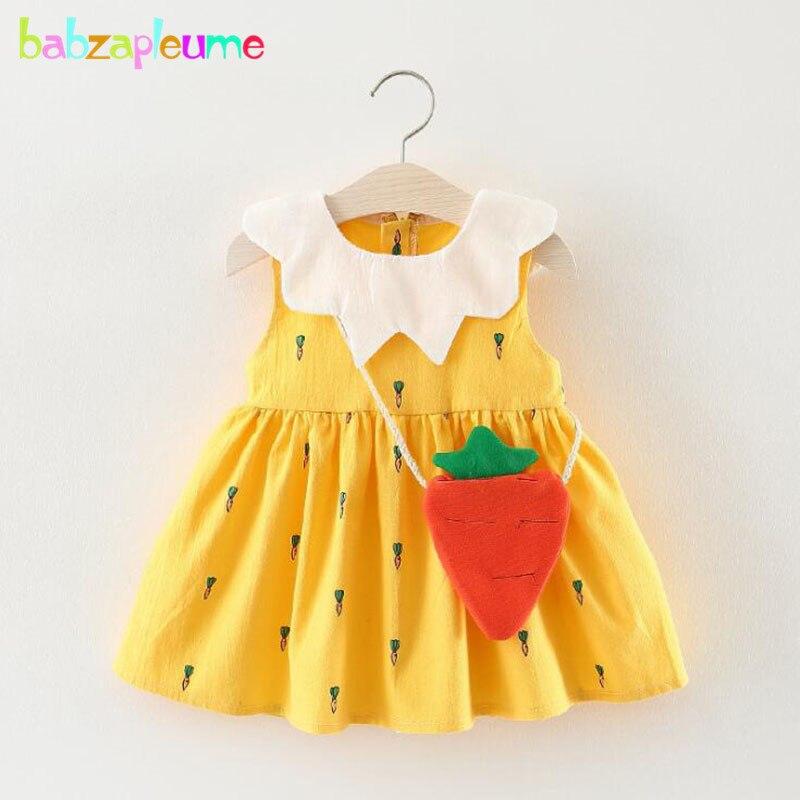 2018 New Summer Korean Baby Girls Dresses Cartoon Cute Sleeveless Cotton Princess Dress For Kids Clothes Chidren Clothing BC1276