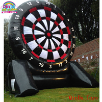 2017 giant target shoot inflatable adult darts board games,5m height inflatable soccer darts with cheap price