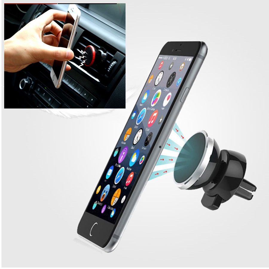Universal Car Air Outlet Magnet Mobile Phone Holder For Huawei Mate 8 9 Honor 7 8 5c 4C p8 p9 360 Degree Rotate Car Phone Stand