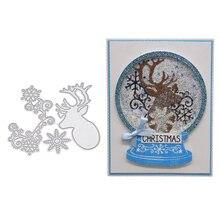 Christmas Deer Snowflake Cutting Dies Embossing Stencil Scrapbooking Die-Cut Navidad Christmas Decorations