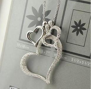 Dull Polish Heart Necklace For Female