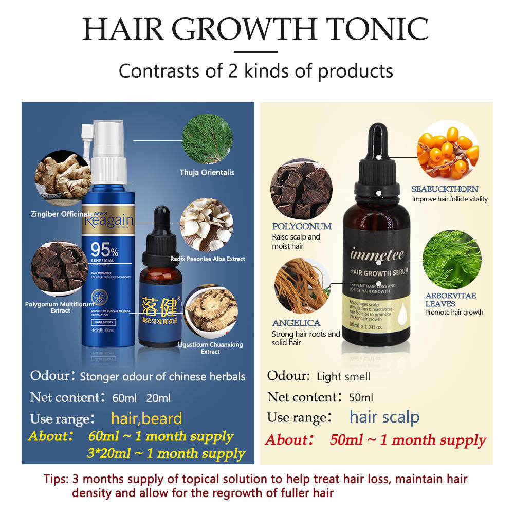 Hair Growth Essence Oil Anti Hair Loss Treatment for Beard Growth Oil Repair Damage Hair Roots Hair Care Products Hair Tonic 2