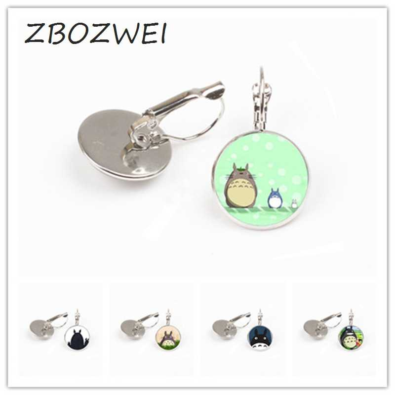 Zbozwei 1 Pcs/lot My Neighbor Totoro Logo Anting-Anting Hot Sale 8 Gaya Jepang Sepanjang Kartun Anime Totoro Siswa Anting-Anting Hadiah
