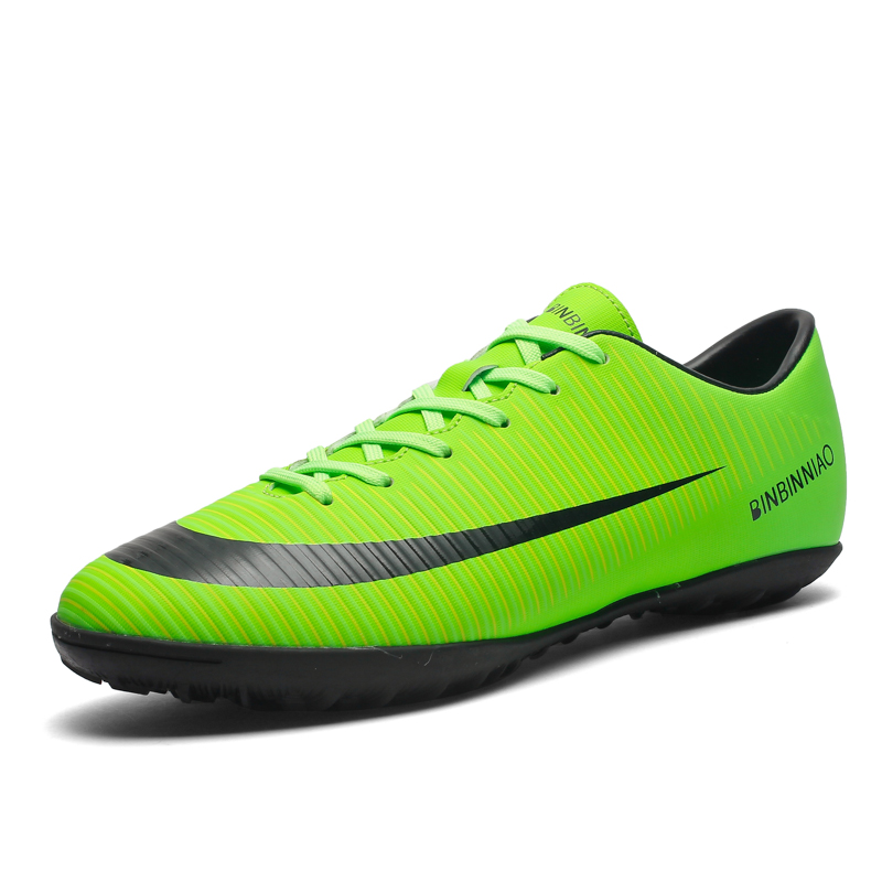 Long Spikes and TF Football Shoes Men Women Outdoor Athletic Trainers Sneakers Adults Brand Professional Soccer futbol krampon|Soccer Shoes| |  - title=