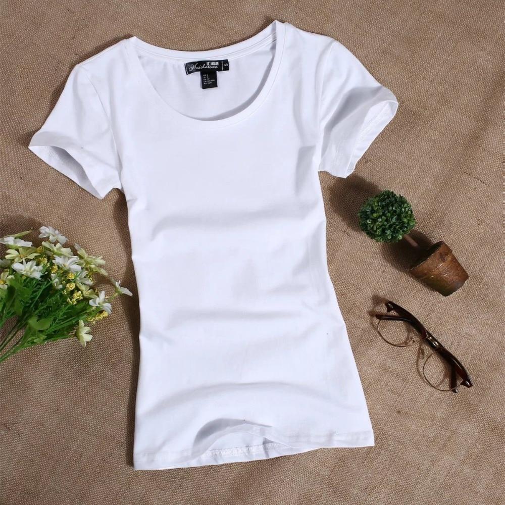 MRMT 2020 Women's T Shirt Women Short Sleeved Slim Solid Color Womens Simple Tee T-Shirt For Female Tshirt 1