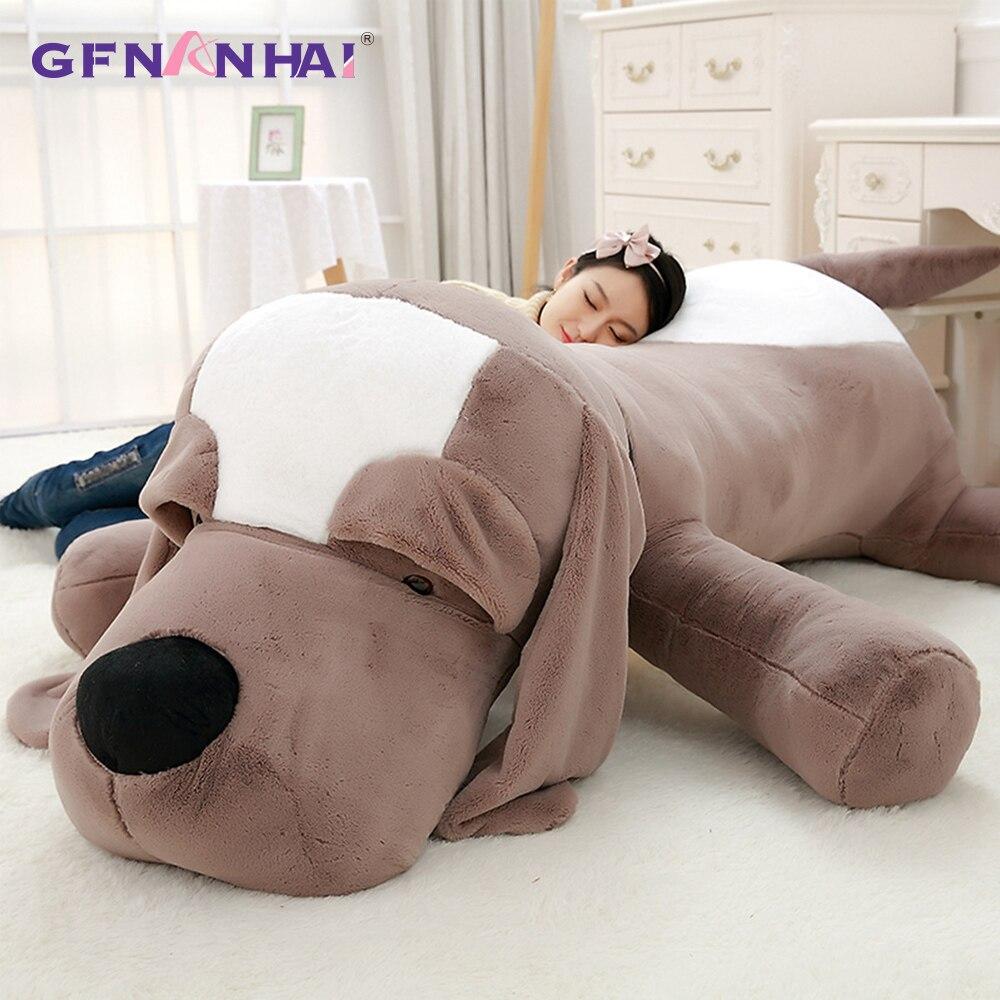 Милая большая плюшевая игрушка для ушей, плюшевая подушка для собак, плюшевая подушка с мягкими животными, подушка для собаки, дивана, плюшевый подарок на день рождения, игрушки для девочек, кукла для собаки|Мягкие игрушки животные|   | АлиЭкспресс