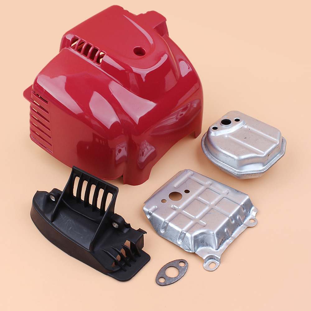 Cover Cylinder 35 Engine 35 Kit Honda For Mowers Brushcutter Gasoline UMK435 Motor 4 GX35 Muffler Exhaust Strimmer GX 8cc Stroke