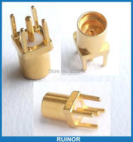 100PCS 5 Pin MMCX jack Female socket Coaxial Connector Straight connector
