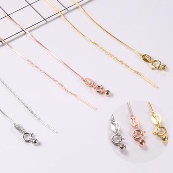 16cm, joyería de plata de ley 925, cadena de serpiente, abalorios, cadena de cuentas cruzadas para mujer, pulsera diy, fabricación de joyería