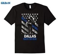 GILDAN Dallas Backs the Blue support thin blue line t-shirt