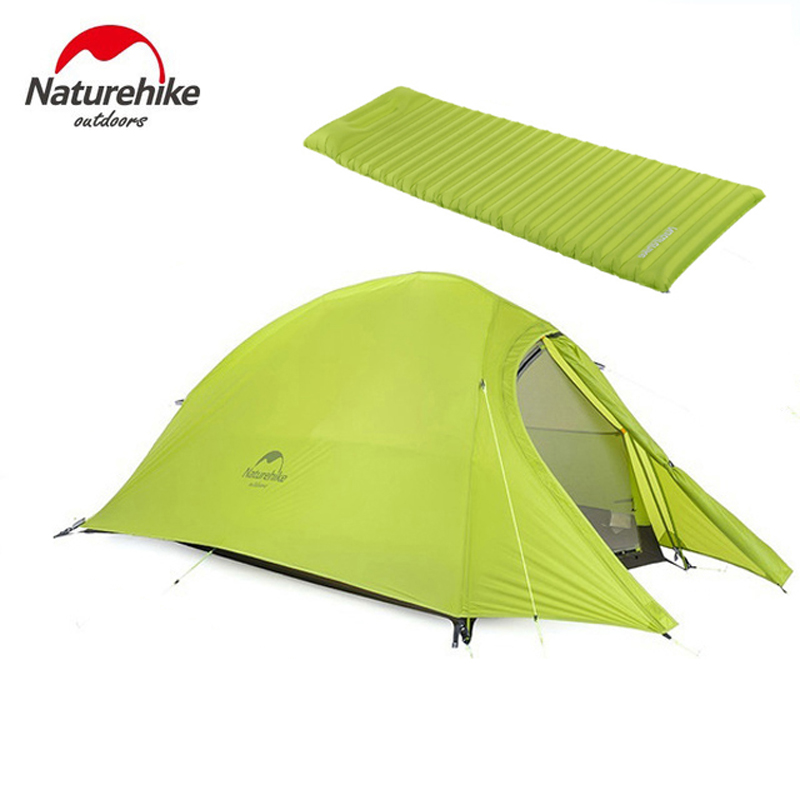 2017 Naturehike CloudUp Série Ultra-Léger Randonnée Tente 20D/210 t Tissu Pour 2 Personne Avec Tapis NH15T002-T