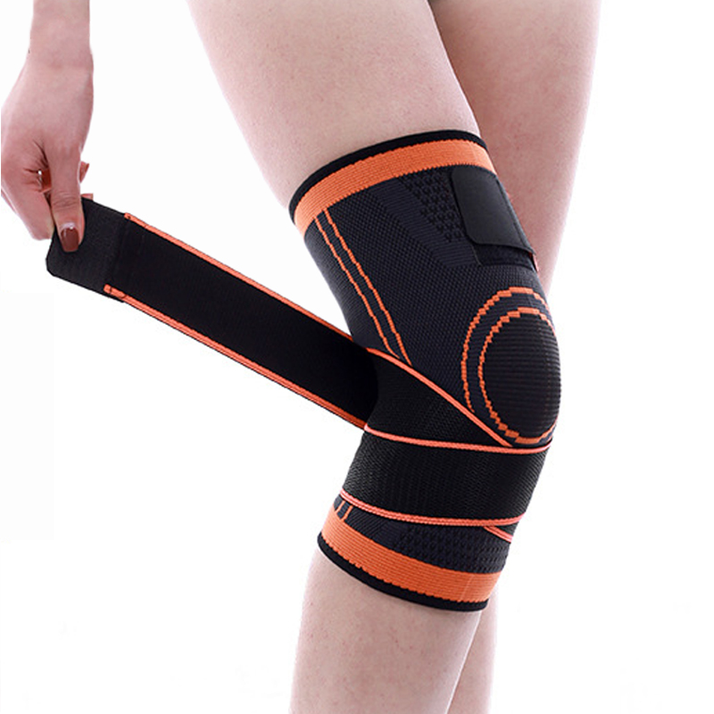 1PCS 3d Pressurized Knee Support Professional Protective Sports Knee Pads Elastic Bandage Knee Brace Basketball Tennis Cycling