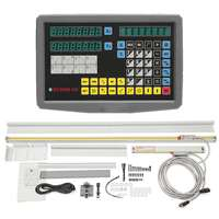 2 Axis Digital Readout & TTL Linear Scale 9x42DRO Kit Linear Glass Encoder for all Machine for Mill Bridgeport EMD GCS900 2D