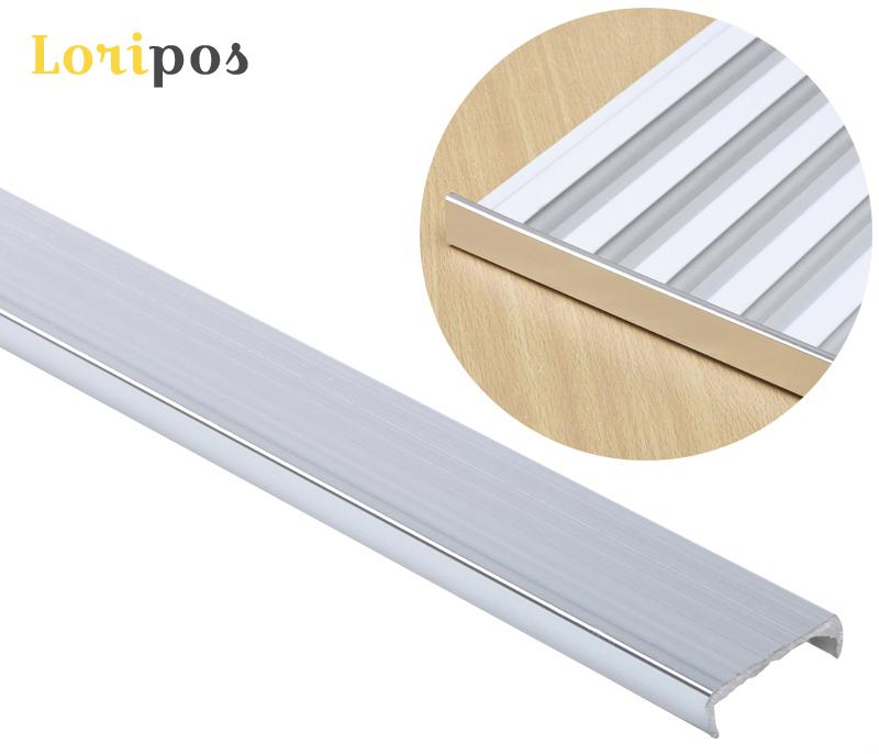 Aluminium Slot Strip Wall Mount Board Edge Cover Shelf Board Plate Grooves Protection Bar Rail Pole Slotted Plate Edge Guard Rod