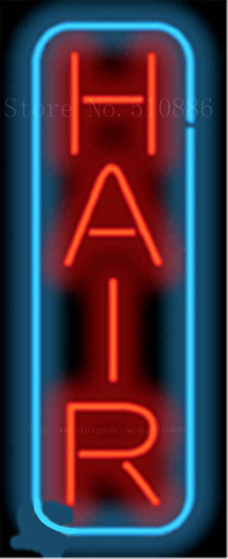"""17*14 """"Haar Vertikale NEONZEICHEN REAL GLAS BIER BAR PUB LICHT ZEICHEN shop-display Restaurant geschäft werbung Lichter"""