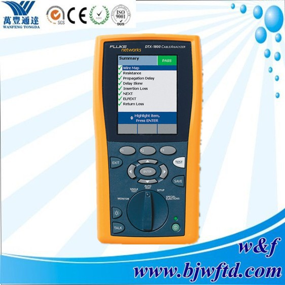 Intelligent FLUKE Instrument DTX-1800 Cable Analyzer