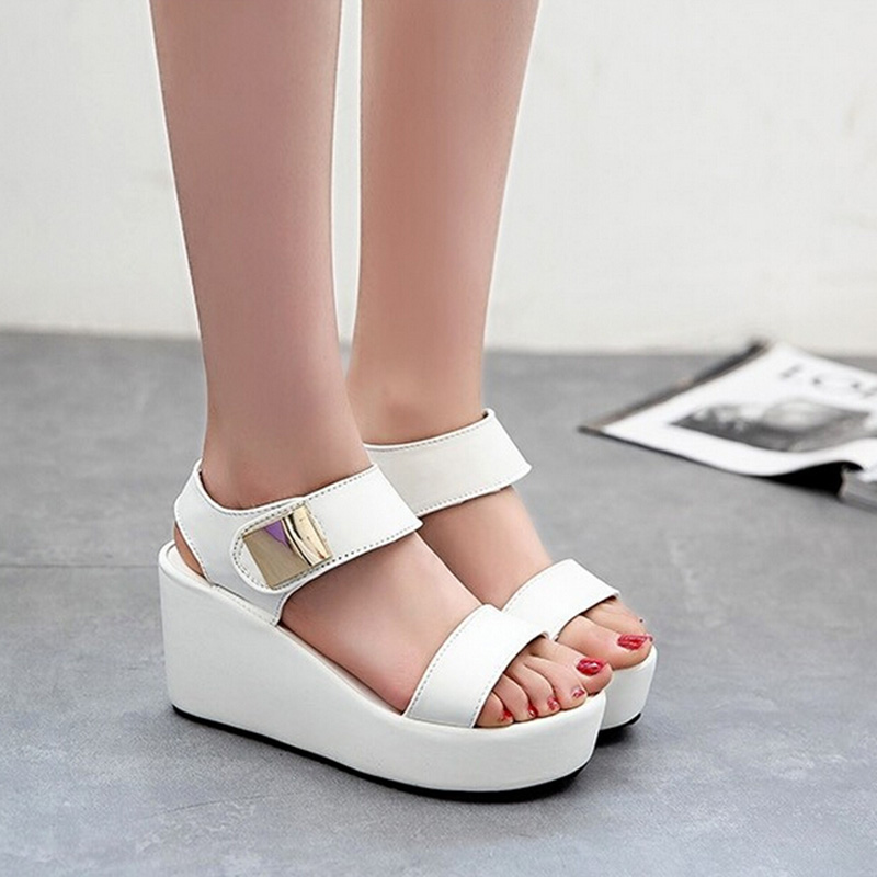 c1ff836c5 Hot Sale Women Wedges Sandals Fashion Casual Platform Sandals Metal Decor Summer  Shoes sandalias mujer sandalias Size 36 39-in Women s Sandals from Shoes
