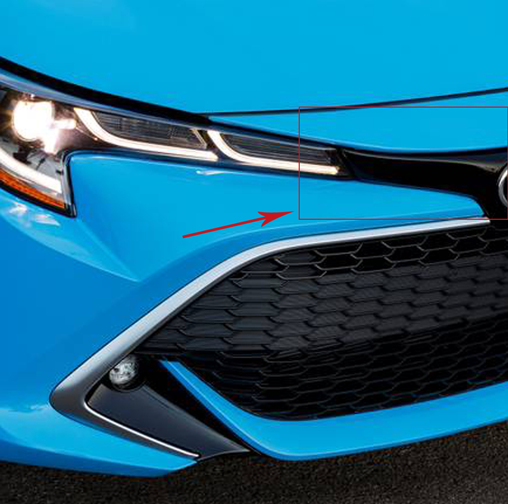 For Toyota Corolla Hatchback 2019 2020 ABS Chrome Front Upper Grille Strip Grill Cover Molding Trim Car Accessories|Chromium Styling| |  - title=