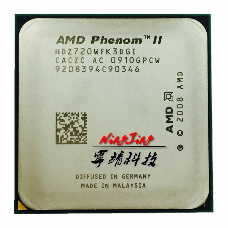 AMD Phenom II X3 720 2.8 GHz Triple-Core CPU Processor HDZ720WFK3DGI Socket AM3