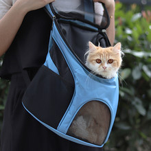 Mochila porta gato de malla transpirable para gatos, viajes al aire libre, transporte de gatos, bolsa para mascota