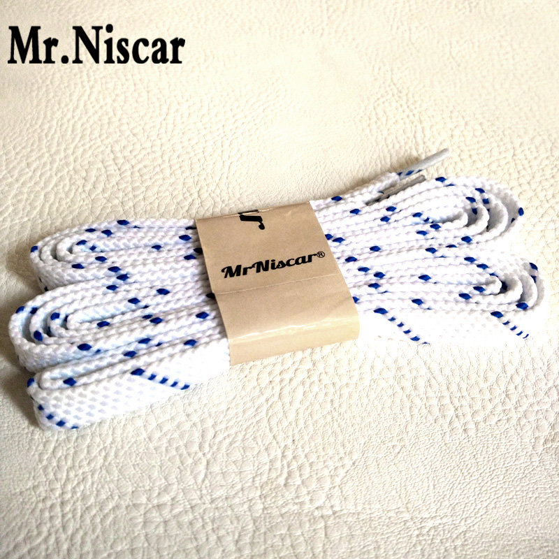 Mr.Niscar 1 Pair Width 0.8 cm Thick 0.2 cm White Flat Shoelaces Casual Sneaker Shoelaces Polyester Blue Point Twill Shoe Laces fashionable purple twill pattern 8 5cm width deep blue tie for men